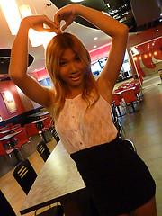 Ladyboy mall date jerkoff