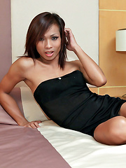 Thai tranny unloads here rock hard weapon