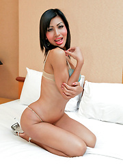 Curvy ladyboy call girl found jerking off