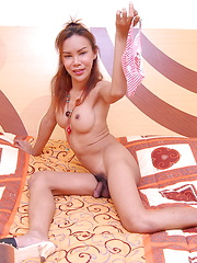 Ladyboy Sonya strips to proudly show off her bubble but and her hard love tool