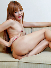 Ping is one hot wanking ladyboy redhead