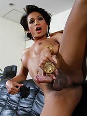 Exotic transsexual Sonya stripping