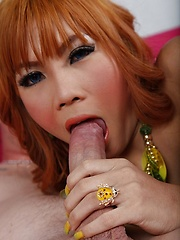 Ladyboy Pammy Covered in Spunk