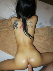 Tiny Oiled Buns Bareback ST