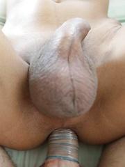 Slender sexy Thai Ladyboy enjoys ass packing from white tourist